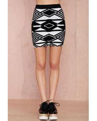 Nasty Gal Hypnotize Textured Skirt - Lyst