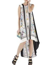 BCBGMAXAZRIA Mckayla Sleeveless Print-Blocked High-Low Dress - Lyst