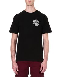 Obey Eagle Medal Tshirt Black - Lyst