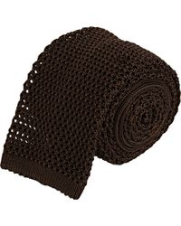 Barneys New York Crochet Neck Tie - Lyst
