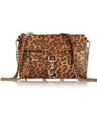 Rebecca Minkoff Mini Mac Leopard-Print Leather Shoulder Bag - Lyst