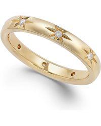 Marchesa Star By Diamond Star Wedding Band In 18K Gold (1/8 Ct. T.W.) gold - Lyst
