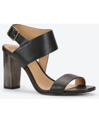 Ann Taylor Margo Leather Sandals black - Lyst