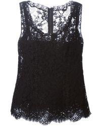 Dolce & Gabbana Polka-Dot Silk T-Shirt black - Lyst