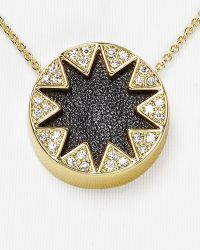 House Of Harlow Mini Pave Sunburst Necklace 16 - Lyst