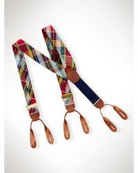 Ralph Lauren Cotton Madras Braces - Lyst
