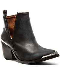 Jeffrey Campbell Cromwell Bootie In Black Distressed - Lyst