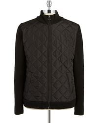 7 Diamonds - Quilted Knit Zip Up - Lyst