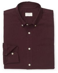 Club Monaco Slimfit Flannel Shirt - Lyst