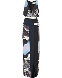 Peter Pilotto Nika Printed Stretchcrepe Gown - Lyst