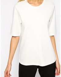Asos Clean Top With Half Sleeve - Lyst