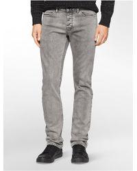 Calvin Klein | Jeans Slim Leg Grey Wash Jeans | Lyst