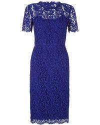 Hobbs China Blue Lace Dress - Lyst
