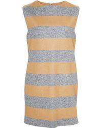 Katie Ermilio Cashmere Striped Mini Dress blue - Lyst