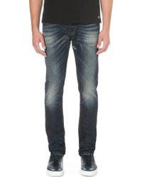 Diesel Tepphar Slim-fit Tapered Skinny Jeans Blue - Lyst