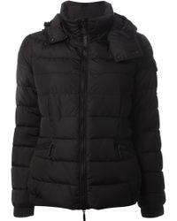 Moncler Black Padded Jacket - Lyst