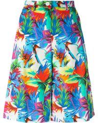 Love Moschino Tropical Print Shorts - Lyst