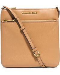 MICHAEL Michael Kors Small Flat Leather Crossbody Bag - Lyst