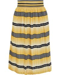 Temperley London Pleated Printed Chiffon Skirt - Lyst