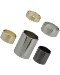 Topshop Plain Band Ring Pack - Lyst