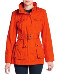 Marc New York By Andrew Marc Bailey Belted Cotton Jacket - Lyst