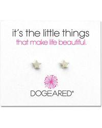 Dogeared - Its The Little Things Sterling Silver Star Stud Earrings - Lyst