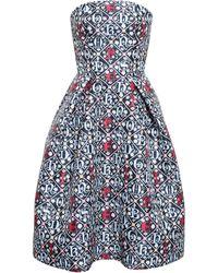 Mary Katrantzou Alphabet Bustier Dress - Lyst