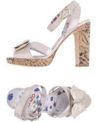 Kenzo Pink Platform Sandals - Lyst