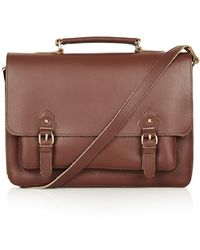 TOPSHOP - Classic Leather Satchel - Lyst