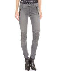 Hudson Stark Moto Skinny Jeans Rakke - Lyst