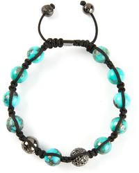 Shamballa Jewels - Diamond Embellished Detail Fine Bracelet - Lyst