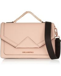 Karl Lagerfeld Klassik Textured-Leather Shoulder Bag - Lyst