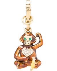 Juicy Couture Monkey Charm in Metallic Gold