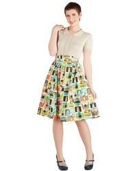 ModCloth Flair For The Fantastic Skirt in Cameras - Lyst