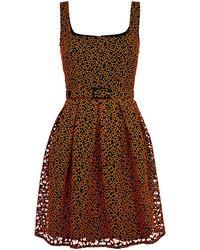 Christopher Kane Leopard Broderie Princess Dress - Lyst