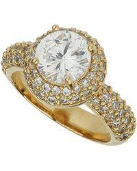 Topshop Premium Plated Rhinestone Ring - Lyst