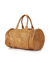 TOPSHOP - Leather Sports Bag - Lyst