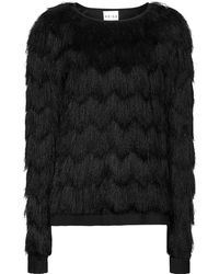 Reiss Faris Fringed Top - Lyst