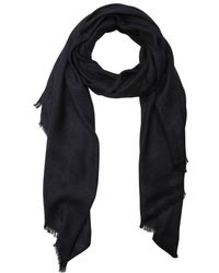 Jimmy Choo Navy Glimmer Star And Chain Print Woven Frayed Scarf - Lyst