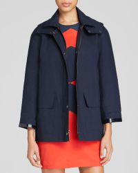 DKNY Detachable Hood Coat - Lyst