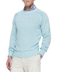 Peter Millar Linencotton Crewneck Sweater - Lyst