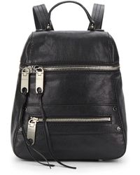 Milly Riley Leather Backpack - Lyst