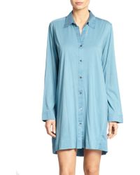 Donna Karan New York Cotton Sateen Sleepshirt - Lyst