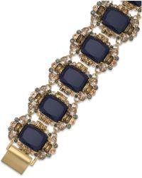 Kate Spade New York Gold-tone Blue Stone Flex Bracelet - Lyst