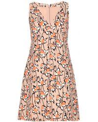 Miu Miu Printed Crepe Dress - Lyst