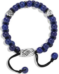 David Yurman Spiritual Beads Tworow Bracelet with Lapis Lazuli - Blue