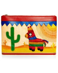 Charlotte Olympia Embroidered Mexicana Ari Clutch - Lyst
