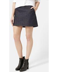 Topshop Moto A-Line Miniskirt - Lyst