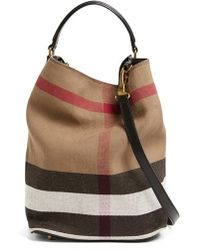 Burberry Brit -  susanna - Medium  Bucket Bag - Lyst 46c75c725d