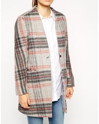 Asos Coat In Pretty Check - Lyst